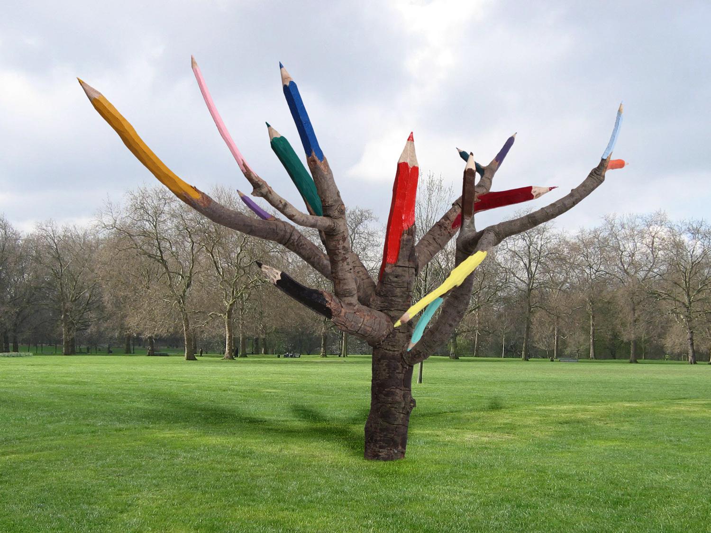 Color Pencil Tree - Dave Rittinger